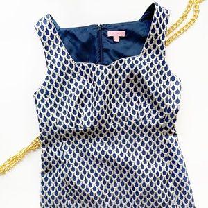 Rare! Lilly Pulitzer Adriana Dress Navy Jacquard